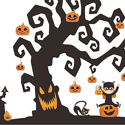 YAOQI Pegatinas de Halloween temáticas para ordenador portátil La pesadilla antes de Navidad y Tim Burton's Sticker impermeable Bike Skateboard Equipaje Calcomanía graffiti parches