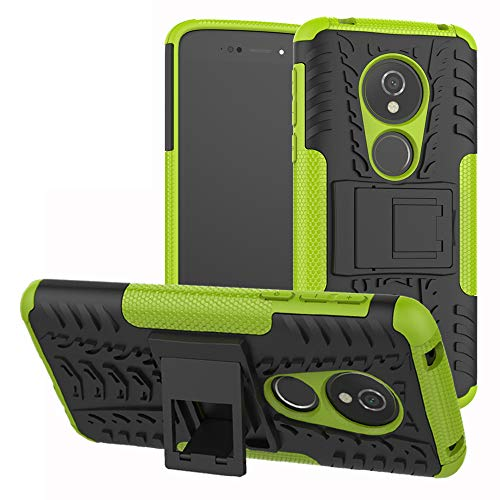 Labanema Moto E5 / G6 Play Custodia, Kickstand Dual Layer Ibrida Rigida Morbido Armatura Resistente agli Urti con Supporto e asportabile di Protezione per Motorola Moto E5 / G6 Play-Verde