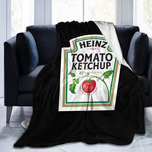 Jupsero Decke Heinz Tomaten Ketchup Sherpa Fleece Decke Ultra-weiche Micro-Decke Decke Fuzzy Soft Decke für Kinder Erwachsene Eltern