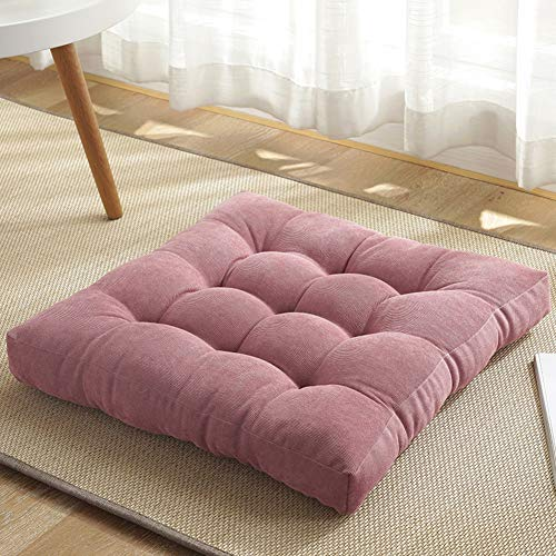 Soft Yoga Meditation Cushion Tatami Cushion For Balcony Home,Outdoor Patio Corduroy Chair Pads,Solid Color Square Floor Cushion,Thicken Tufted Seat Cushion