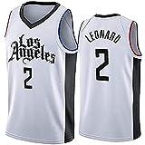 YCQQ Los Angeles Clippers # 2 Kawhi Leonard Basketball Jersey, Camiseta sin Mangas de Malla Transpirable de Tela, Más cómodo, Mejor Calidad(Size:L,Color:G1)