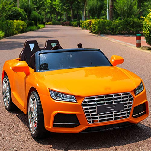 4WD elektrische auto met afstandsbediening voor auto, 4-6 jaar, kan een auto met simulatie op vier wielen worden gebruikt. Oranje.