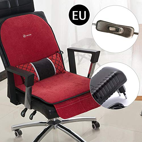 Komfort Sitzheizung Elektrische Heizkissen, Bürostuhl Sitzheizung Wärmer Winter, Aufwärmmatte Sitzkissen Rückenheizung 3 in 1