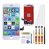 Brinonac Ecran pour iPhone 7 Plus Blanc LCD Tactile Écran Remplacement Vitre Rechange Afficheur Retina Complet Joint Assemblé Réparation Outils Kit,Protege Glace avec Modèle A1661 A1784 A1785