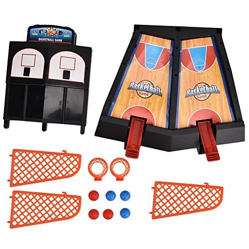 Mini juego de tiro de baloncesto con dedos, doble jugador, juguete de baloncesto de escritorio, juguete deportivo interactivo para el hogar educativo para niños