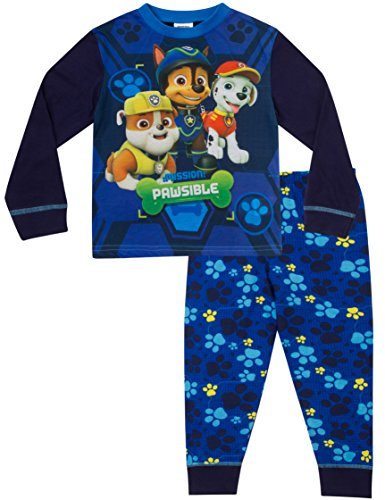 ThePyjamaFactory W17 Paw Patrol Pyjama pour garçon de 3 à 7 ans Bleu - Bleu - 5 ans