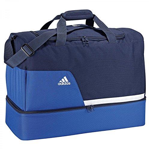 adidas Rucksäcke Tiro 13 Sporttasche mit Bodenfach Taschen, Blau/Weiß, 54 x 28 x 39 cm
