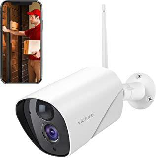 Victure 1080P Outdoor Security Camera IP65 Weatherproof Home Surveillance IP CCTV Camera 2.4G WiFi with Smart PIR Motion Detection/Night Vision/Two Way Audio Compatible with iOS & Android Systerm