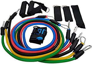 YOUGLE 11pcs/set Pull Rope Fitness Exercises Resistance Bands Crossfit Latex Tubes Pedal Excerciser Body Training Workout ...