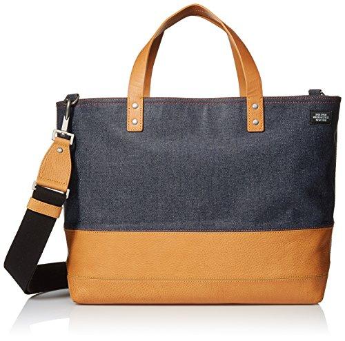 Jack Spade Men's Denim Coal Bag, Blue/Tan, One Size