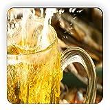 Rikki Knight Kühlschrankmagnet, quadratisch, Bierspritzer
