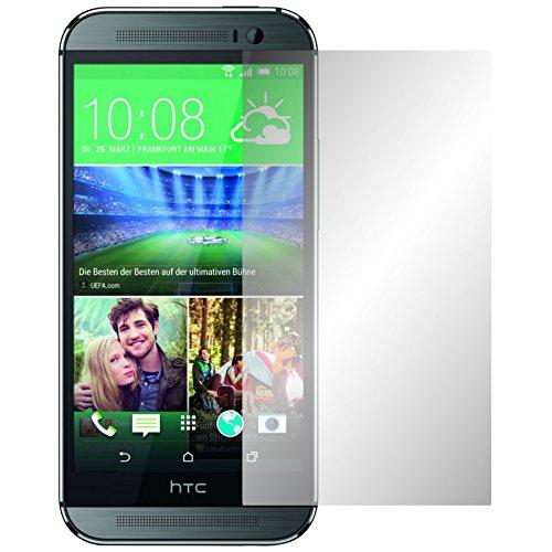 Slabo 2 x Displayfolie für HTC One M8 / M8S Displayschutzfolie Zubehör Crystal Clear KLAR
