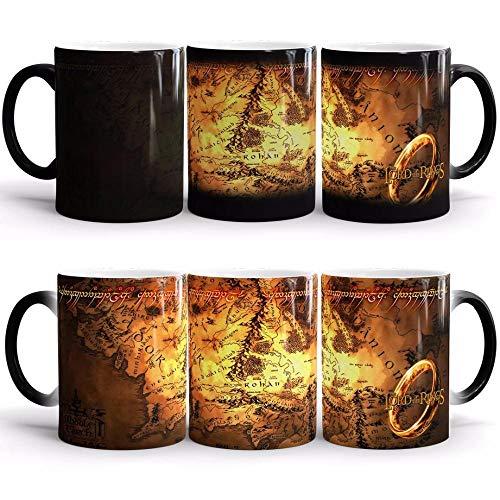 yrxh Créatif Seigneur des Anneaux Van Gogh Changement de Couleur Tasse en Céramique Couple Café Amazon Anniversaire Marque Tasse-Tasse de Couleur Seigneur des Anneaux_301-400ml
