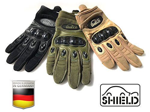 "SHIELD Tactical-Carbon ""Touch"" Einsatzhandschuh (Sand, L)"