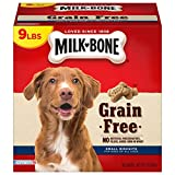 Contains (1) 9 Pound Box of Grain Free Dog Treats Small biscuits for dogs of all sizes Grain free and full of flavor. No added fillers, corn, wheat, artificial preservatives or flavors Fortified with 12 vitamins and minerals for overall wellness Prod...