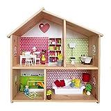 Limmaland Puppenhaus Tapete für IKEA FLISAT Holz Puppenhaus - Möbel Nicht inklusive - byGraziela...