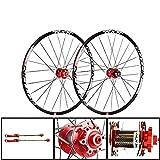 CHUDAN Juego De Ruedas De Bicicleta De 29 Pulgadas (Delantero + Trasero), Llanta MTB De Doble Pared Lanzamiento Rápido Freno De Disco Hub De Fibra De Carbono 24H 7 8 9 10 11 Velocidad