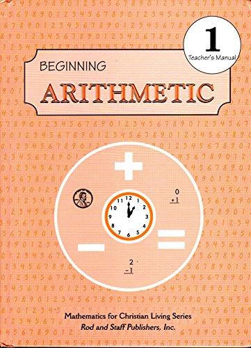 Beginning Arithmetic: Grade 1, Teacher's Manual