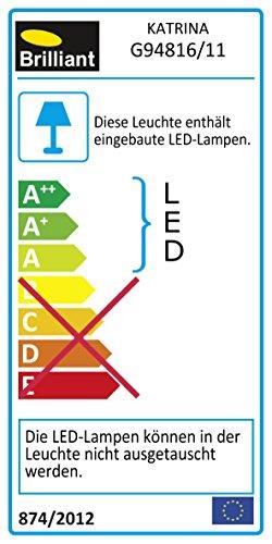 Brilliant Katrina LED Tischleuchte höhenverstellbar schwenkbar titan Büro 600 Lumen, LED integriert