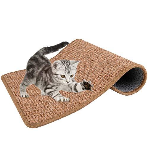 Nasjac Katzen kratzmatte, sisal Teppich Katzen, natürliches SisalSeil Kratzmatte für Katzen schleif klauen und zum Schutz von Teppichtep pichmöbeln, langlebiges rutschfestes Katzen Schlaf Kratz