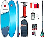 Red Paddle Unisex– Erwachsene 10'8″ Ride MSL + Carbon 50 Nylon Tabelle Sup Und Paddle, Mehrfarbig, Uni
