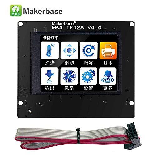 BZ 3D MKS TFT28 V4.0 touch screen da 2,8 pollici Smart Display a colori RepRap, supporto per pannello controller RepRap, WiFi, app, supporto per failover stampante 3D