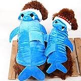 SELMAI Déguisement de requin Halloween pour chien Veste d'hiver à capuche...