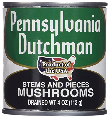 Pennsylvania Dutchman Canned Mushrooms - 12/4 oz. cans