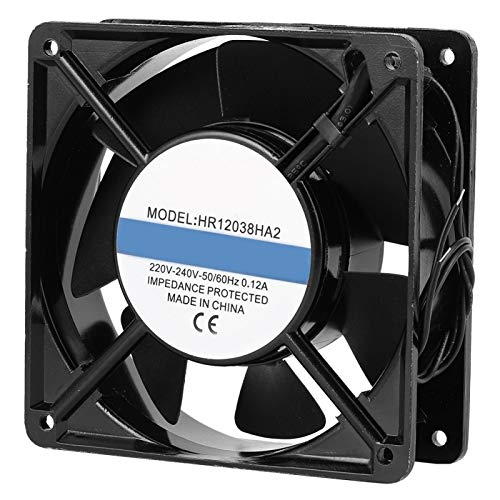 AC220V ‑ 240V 50/60 (Hz) 0.12A Ventilador de enfriamiento Negro 12x12x3.8cm Chasis desmontable Ventilador de enfriamiento Sistema de enfriamiento de PC mini enfriador
