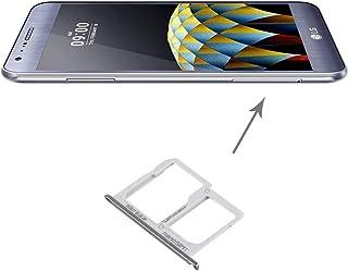Mobiltelefon ersättningsdelar SIM-kort fack + Micro SD/SIM-kort fack för LG X Cam / K580 (Silver) Reservdelar (Color : Sil...