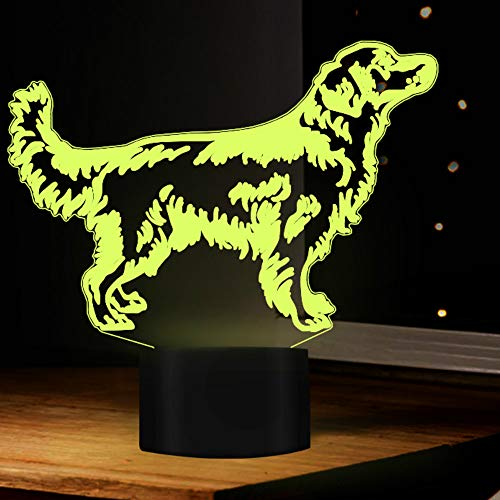 Tissen 3D Dog Night Light 7 Colors Mood Light Touch Switch USB Table Desk LED Light Christmas Present Kids Home Party Birthday Gift