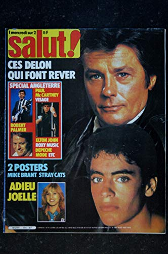 Salut ! 174 1982 LES DELON Paul McCARTNEY Robert PALMER MIKE BRANT STRAY CATS Posters