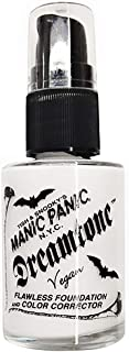 Manic Panic Dreamtone Flawless White Liquid Foundation & Color Corrector (1fl oz) Semi Matte - Fine, Oil Free White Base Makeup for Face Or As a Foundation Mixer