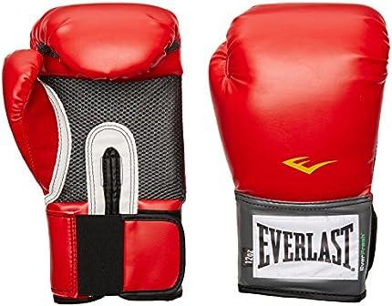 Everlast Pro Style Guantes de entrenamiento (rojo, 14 onzas)