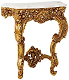 Design Toscano Madame Antoinette Wall Mount Console Table, 35 Inch, Antique Gold Finish