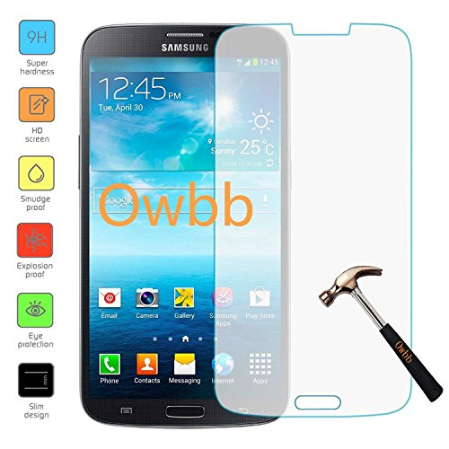 Owbb Glas Display Schutzfolie für Samsung Galaxy Mega (6.3Zoll) Smartphone Hartglas Schutzfolie