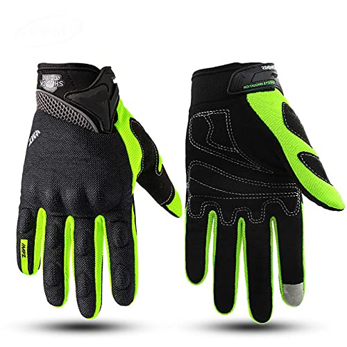 Motorcycle Gloves Green Off-Road Motorcycle Racing Gloves Full Finger Bike Motorcycle