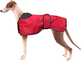 Morezi Waterproof Dog Jacket, Dog Winter Coat with Warm Fleece Lining, Outdoor Dog Apparel with Adjustable Bands for Medium, Large Dog