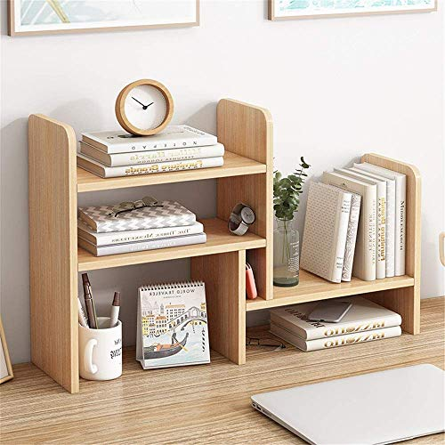 XLTT Estante de escritorio ajustable Estante de escritorio de madera Estantería de encimera Librería de escritorio Suministros de oficina Organizador de escritorio Litera. suministros, exhibir recuerd