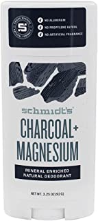Natural Deodorant Mineral Enriched Charcoal Magnesium (3.25 Ounces)
