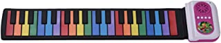 KKmoon 37-Key Portable Roll-Up Piano Silicon Electronic Keyboard Colorful Keys Built-in Speaker Musical Toy for Children Kids