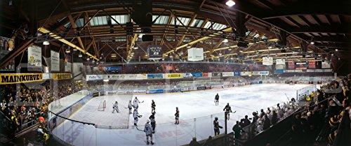 Blue-Letter Bayreuth Eishockey 2017 – hochwertiger FineArtPrint (240 cm x 100 cm)