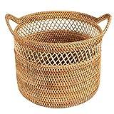 Cesto portabiancheria portatile Lavanderia intrecciata a mano cesto rattan cestino del cestino del cestino del cestino dei giocattoli di abbigliamento del cestello del cestello del cestello del cestel