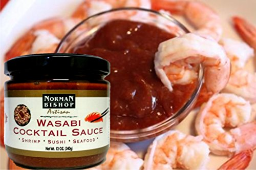 Norman Bishop Wasabi Cocktail Sauce. Wonderful For Shrimp Cocktail, Grilling, Sushi, and As A Dip