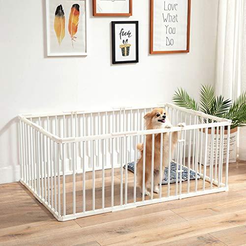 Jaula de perro Perro del perro casero de la jaula hogar Cerca Cerca Aislamiento interior puerta de la cerca del hierro de la jaula plegable de Productos for Mascotas Ejercicio de la pluma y parque in