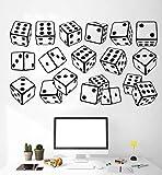 Pegatina de pared jugador juego de dados pegatina de pared Casino ajedrez decoración de la habitación pegatina decoración del hogar sala de estar dormitorio mural DIY desmontable