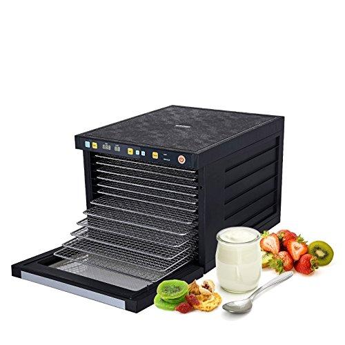 BioChef Savana Dörrautomat mit 6, 9 oder 12 Edelstahl Einschüben + Zubehör - BPA Frei - Modernes Dörrgerät mit Timer & vorprogrammierten Einstellungen für Fleisch, Obst, Kräuter, Gemüse - 9 Etagen