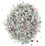 Lawei 1 libra de fluorita natural de cristal aplastado – Piedra de forma irregular para hacer decoración del hogar
