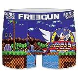 FREEGUN 14/16 Boxer Sonic The Hedgehog Talla, Unitario Infantil T139/1, Niños
