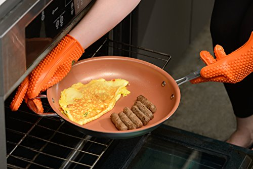 "California Home Goods CHG-FRY-12PT5 12.5"" Non-Stick Frying Pan with CeramiTech Coating, Copper Colored"